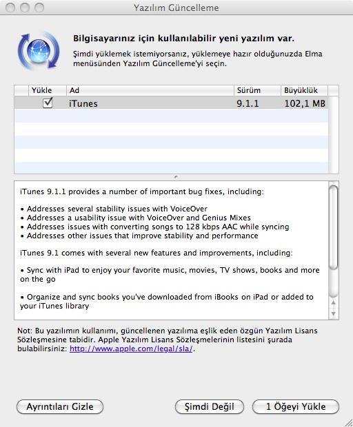 itunes 9.1.1 - ElmaDergisi.com
