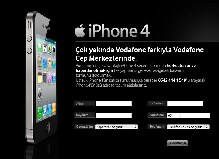 vodafone iPhone 4 Ön Sipariş