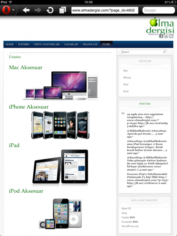 Opera Mini web Browser  - Elma Dergisi