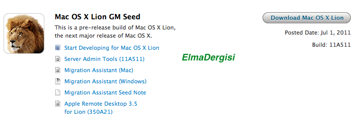 Download OS X Lion 11A511