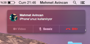 iphone call yosemite elma dergisi