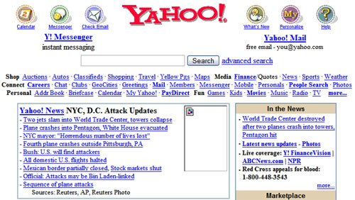 yahoo-homepage-september-11