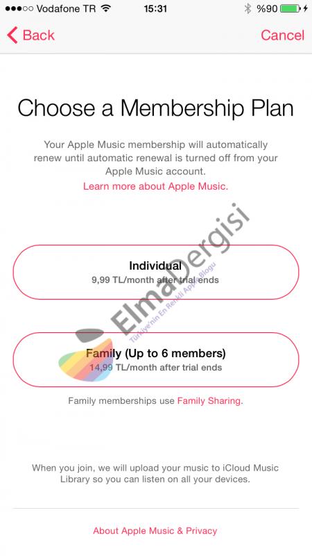 apple music fiyat türkiye