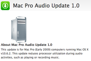 Mac Pro Audio Update - Elma Dergisi