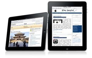 iPad üzerinde Elma Dergisi