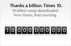 iTunes 10 billion songs downloaded - Elma Dergisi Türkiye