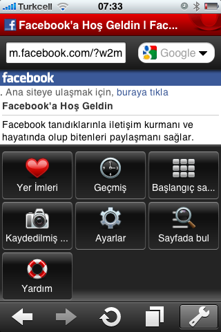 Opera Mini Browser iPhone Screen ElmaDergisi.com