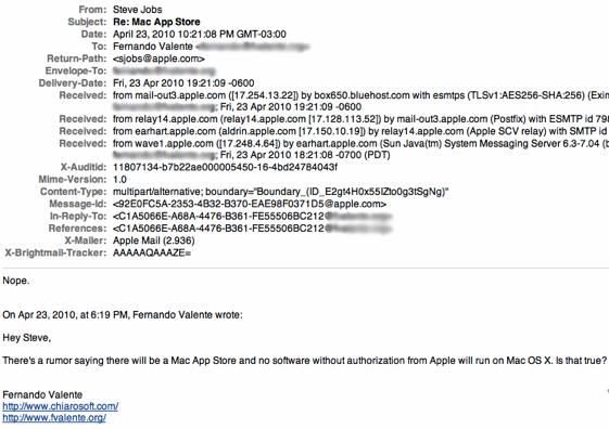 Steve Jobs, No Mac App Store - Elma Dergisi
