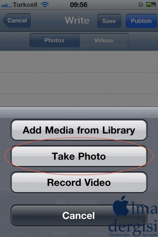 WordPress App - iPhone - Elma Dergisi