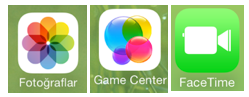 facetime game center fotograflar ios7 simge